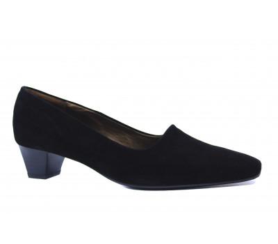 Туфли осенние Peter Kaiser замшевые черные 37235-240