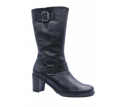 Зимние  полусапоги Gabor кожаные черные 11660