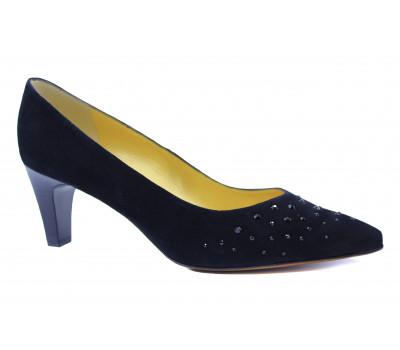 Модельные туфли Peter Kaiser замшевые черные 67263-515