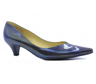 Модельные туфли Peter Kaiser из лакированной кожи серые 40813-207