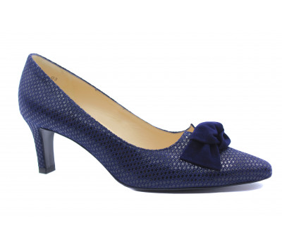 Модельные туфли Peter Kaiser из крека темно-синие 66119-026
