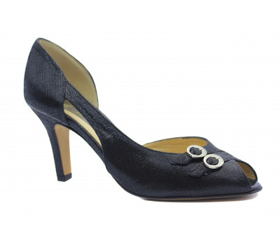 Модельные туфли Peter Kaiser черные из крека 96737-233