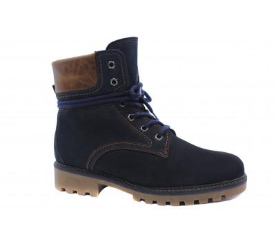 Зимние ботинки Gabor из нубука темно-синие 91810.98
