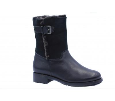 Зимние ботильоны Hogl кожаные черные 8-102065