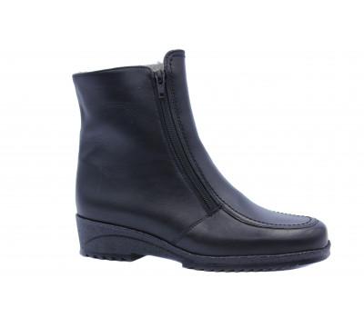 Ботильоны зимние Ara кожаные черные