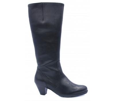 Демисезонные сапоги Gabor кожаные черные 95649