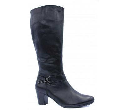 Демисезонные сапоги Gabor кожаные черные 36587