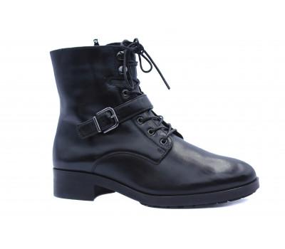 Зимние ботинки Hogl кожаные черные 6-100635