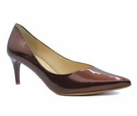 Модельные туфли Hogl из лакированной кожи коричневые