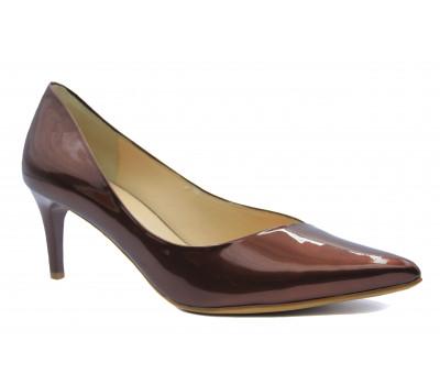 Модельные туфли Hogl из лакированной кожи коричневые 5-106734