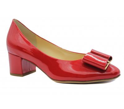 Модельные туфли Hogl из лакированной кожи красные 5-104084