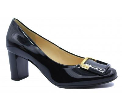 Модельные туфли Hogl из лакированной кожи черные 0-105044