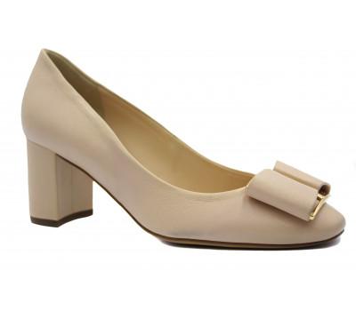 Модельные туфли Hogl кожаные бежевые 5-105080