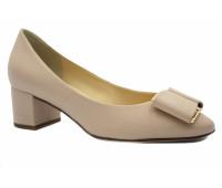 Модельные туфли Hogl кожаные бежевые