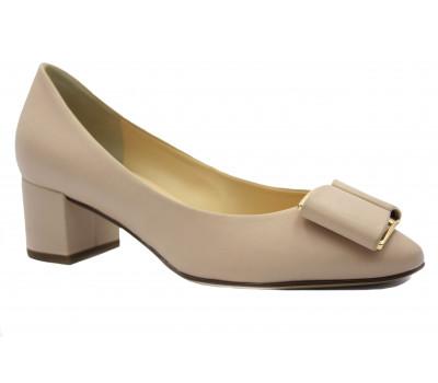 Модельные туфли Hogl кожаные бежевые 5-104080
