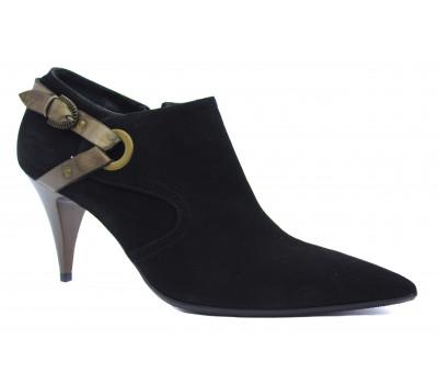 Демисезонные туфли Alba замшевые черные 796
