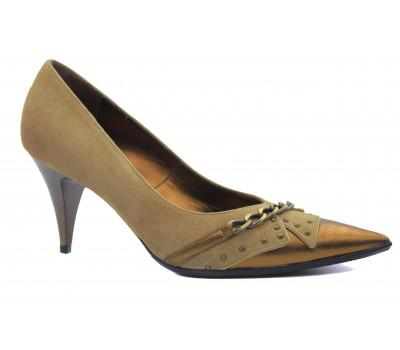 Туфли ALBA замшевые коричневые 713