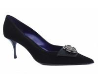 Модельные туфли Fabiani замшевые черные
