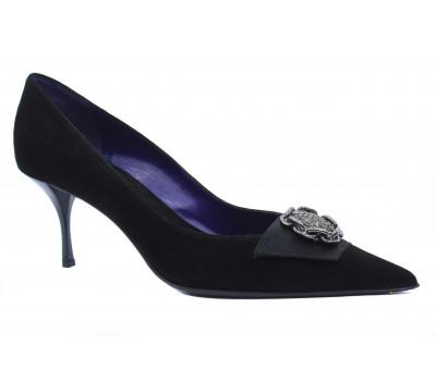 Модельные туфли Fabiani замшевые черные 3031