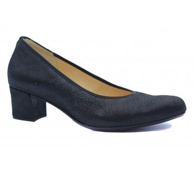 Модельные туфли Hassia черные из крека 6-304904