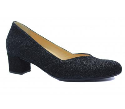 Модельные туфли Hassia черные из крека 5-304934
