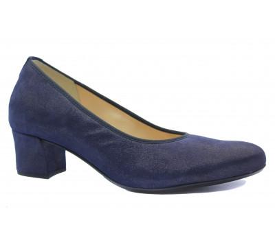 Модельные туфли Hassia темно-синие из крека 5-304923
