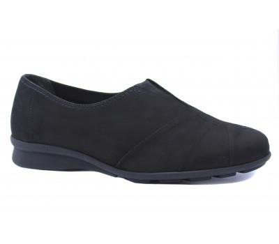 Демисезонные туфли Gabor из нубука черные 52664