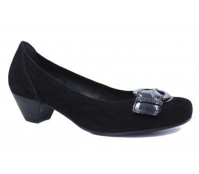 Туфли Gabor замшевые черные 76184