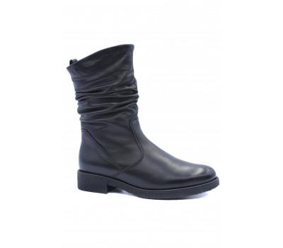 Зимние полусапоги Gabor кожаные черные 52703.52