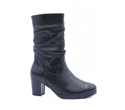 Зимние полусапоги Gabor кожаные черные 75544.97