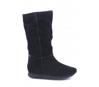 Зимние полусапоги Hogl  с gore-tex замшевые черные 2-101712