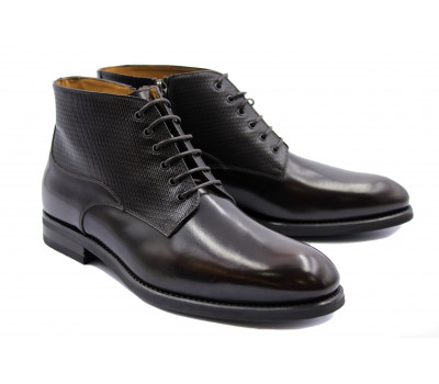 Ботинки демисезонные ROMIT HAND MADE кожаные коричневые