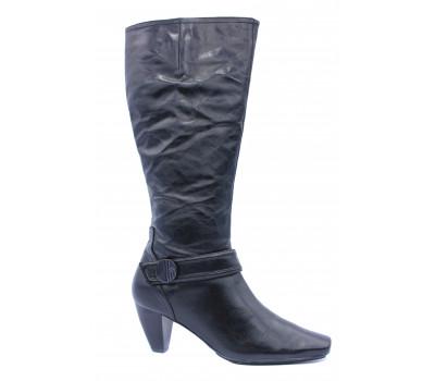 Сапоги осенние Hogl кожаные черные 6-105430