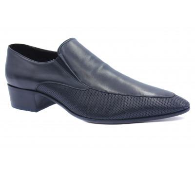Туфли ROMIT кожаные черные 11083