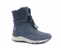 Демисезонные ботинки Gabor из нубука темно-серые с gore-tex мембраной