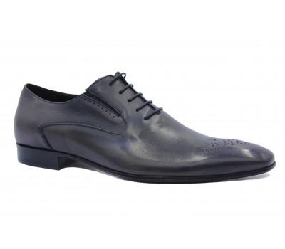Туфли ROMIT кожаные серые 10376