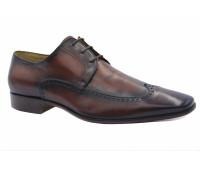 Летние туфли ALBA кожаные бордовые