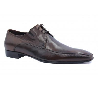 Туфли ROMIT кожаные коричневые 9929