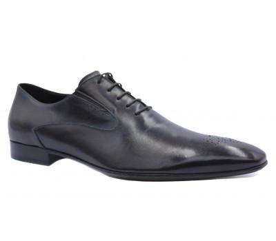 Туфли ROMIT кожаные бордовые 10376
