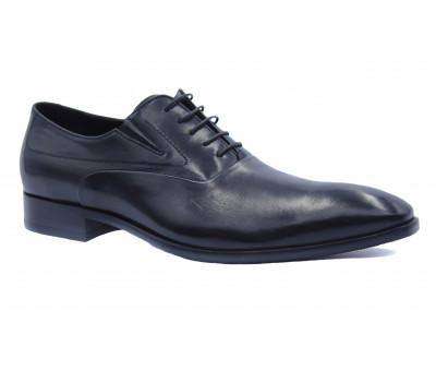 Демисезонные туфли ROMIT кожаные черные 10366
