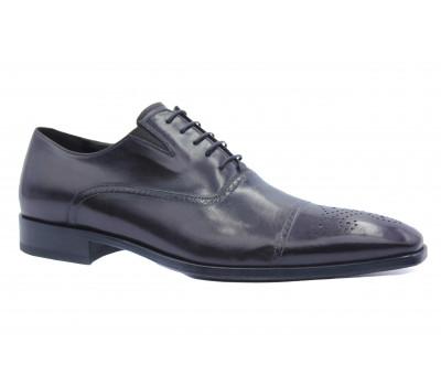 Демисезонные  туфли ROMIT кожаные бордовые 10568