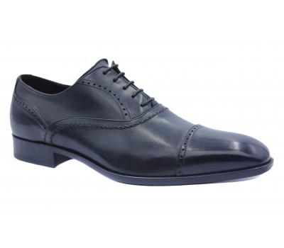 Демисезонные туфли ROMIT кожаные черные 11283