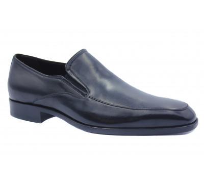 Демисезонные туфли ROMIT кожаные черные 11286