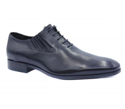 Демисезонные туфли ROMIT кожаные черные 14093