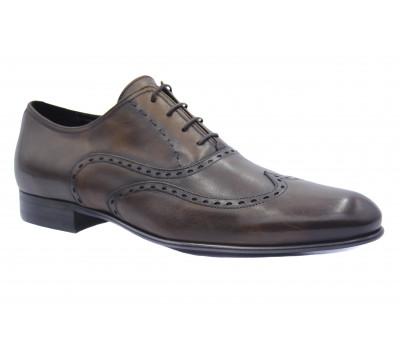 Туфли ROMIT кожаные коричневые 10853