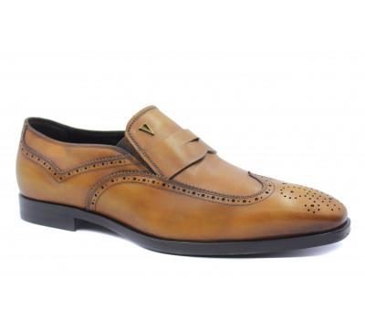 Туфли ROMIT HAND MADE кожаные рыжие 16455