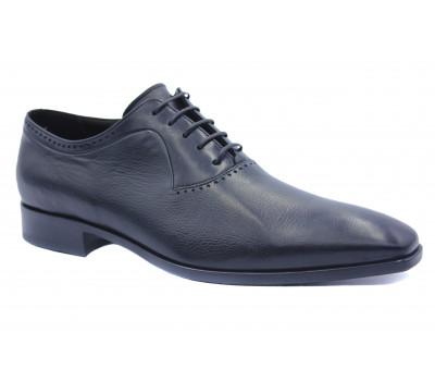 Демисезонные туфли ROMIT кожаные черные 11168
