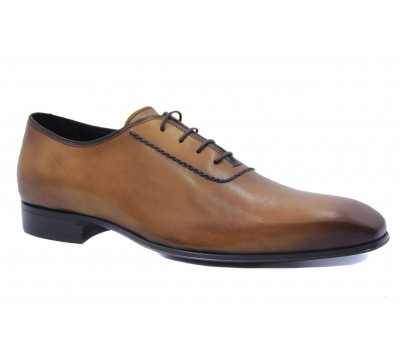 Туфли ROMIT  кожаные рыжие 9475\1