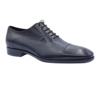 Демисезонные туфли ROMIT кожаные черные 15830