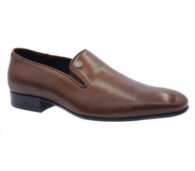 Туфли ROMIT кожаные коричневые 14677